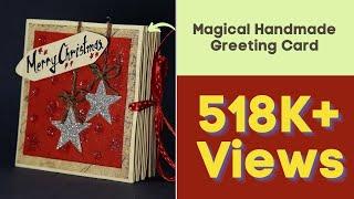 DIY Pop Up Corner Christmas Card - Magical Handmade Greeting Card for Christmas