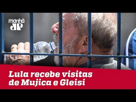 Preso Em Curitiba, Lula Recebe Visitas De Mujica E Gleisi Hoffmann