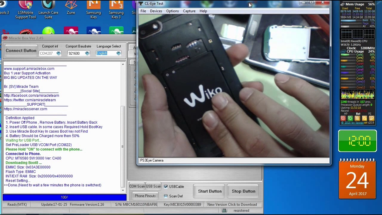 wiko lenny 3 reset frp miracle box remove google account
