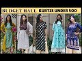 KURTI'S UNDER RS. 500 | AMAZON & MYNTRA - OFFICE/COLLEGE/CASUAL WEAR | Affordable Kurti Haul |