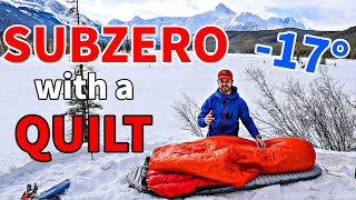 How-To SLEEP WARM WÏTH A QUILT when Winter Backpacking and Camping