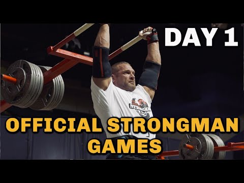 OFFICIAL STRONGMAN GAMES | Day 1