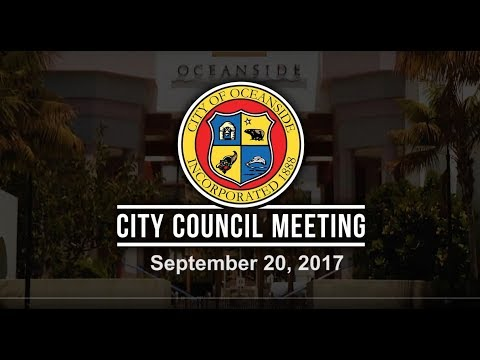 Oceanside City Council Meeting - September 20, 2017