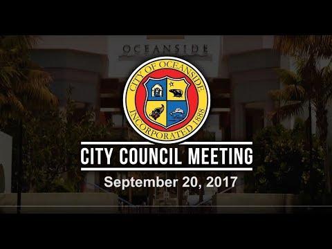 Oceanside City Council Meeting - September 20, 2017
