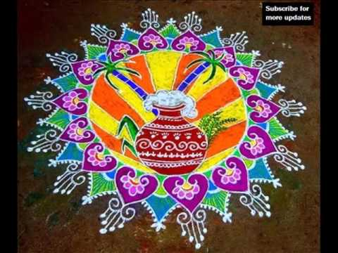 Top 10 latest kolam designs for you to try this 2019.