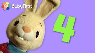 Four | Learning Numbers | Harry the Bunny | BabyFirstTV