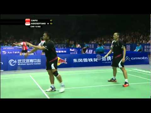 Group (Day 3) - China (Cai/Fu) vs Indonesia (Kido/Septano) - Thomas Cup 2012