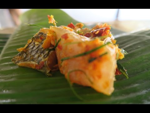 BBQ Curried Fish In Banana Leaves