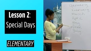 Elementary Levels - Lesson 2: Special Days