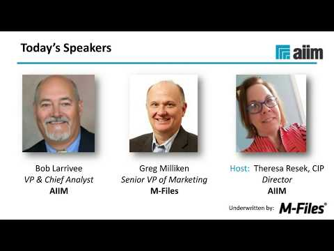 Webinar with AIIM: How to Plan Your Intelligent Information Strategy in 2018