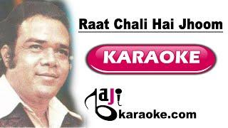 Raat Chali Hai Jhoom ke - Video Karaoke - Ahmed Rushdi - by Baji Karaoke