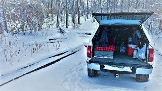 Two Nights in a Snowṡtorm - Winter Truck Camping