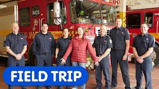 Let's Visit The Fire Station | Caitie's Classroom | Safety Education For Kids
