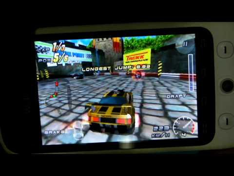 Android 2.1 Eclair on WellcoM A88 3D Racing game App