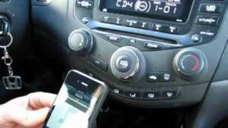 GTA Car Kits - Honda Accord 2003-2007 install of iPhone, Ipod and AUX adapter for factory stereo