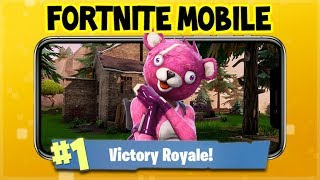 Fortnite MOBILE Gameplay - Shopping CART Racing! Victory Royales (Fortnite Mobile Gameplay)