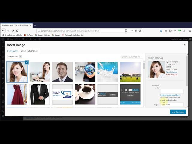 Wordpress siteye Resimli Yönetici ekip Listesi oluşturma