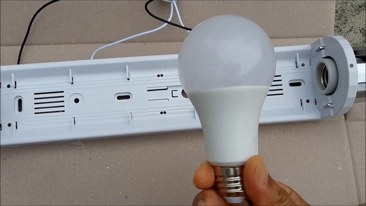욕실등 led 모듈바 형광등을 led 전구형,전등 형광등으로 개조 수리 고장원인은 ?
