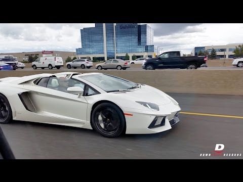Supercars And Sportscars On Toronto Streets