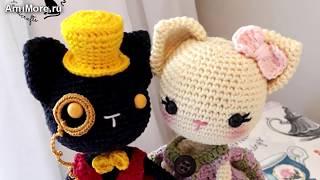 Амигуруми: схема Кота и Кошки. Игрушки вязанные крючком. Free crochet patterns.