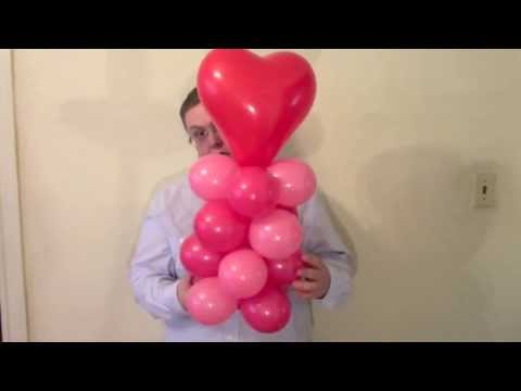 Balloon Heart Column   ChiTwist Chicago Balloon Twisting