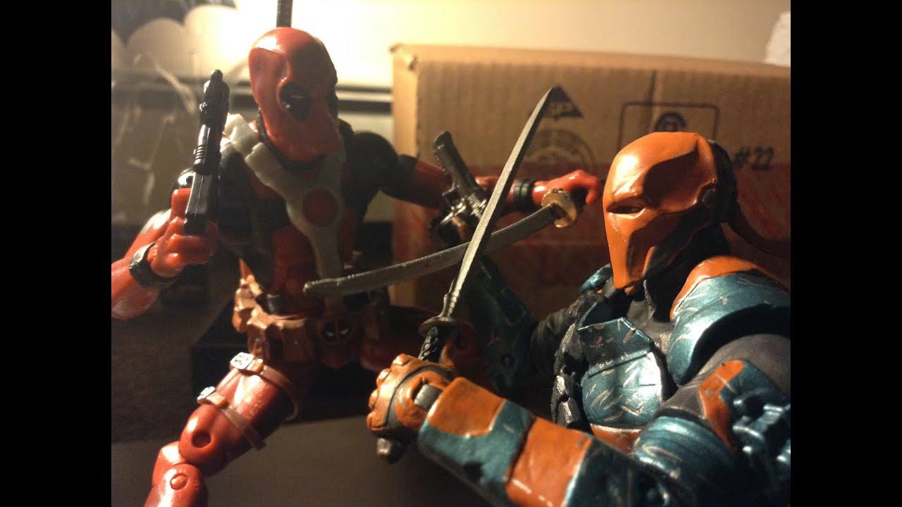 Batman 3d Live Wallpaper Deadpool Stop Motion Deadpool Vs Deathstroke Stopmotion