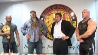 2011.02.02 PRESS CONFERENCE GIANT BERNARD & KARL ANDERSON vs NAKANISHI & STRONGMAN