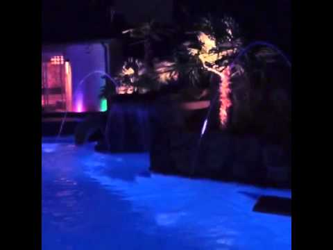 led water fountain lights dallas landscape lighting youtube