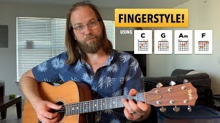 fingerpicking c-g-am-f (based on vampire weekend-s -hold you now-)