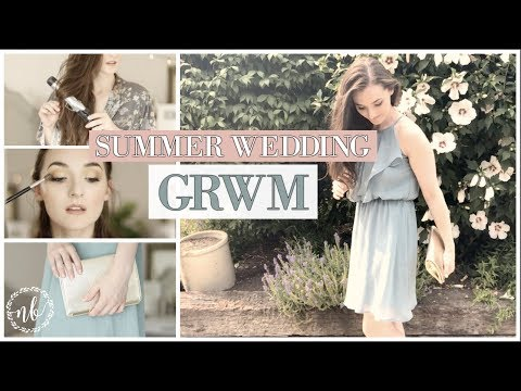SUMMER WEDDING Get Ready With Me   Hair and Makeup That's Easy + Elegant   Natalie Bennett