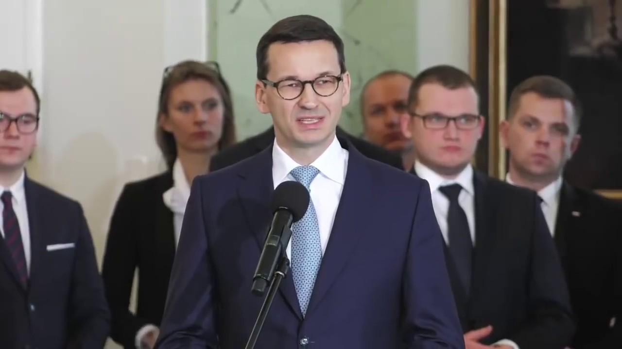 Premier Morawiecki po zaprzysiężeniu nowego rządu 09.01.2018