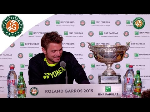 Stanislas Wawrinka's Press Conference after 2015 Final Victory - Roland-Garros