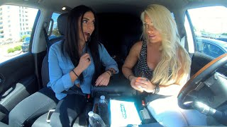 Mandy Rose and Sonya Deville try KFC's Cinnabon Dessert Biscuits on Ride Along