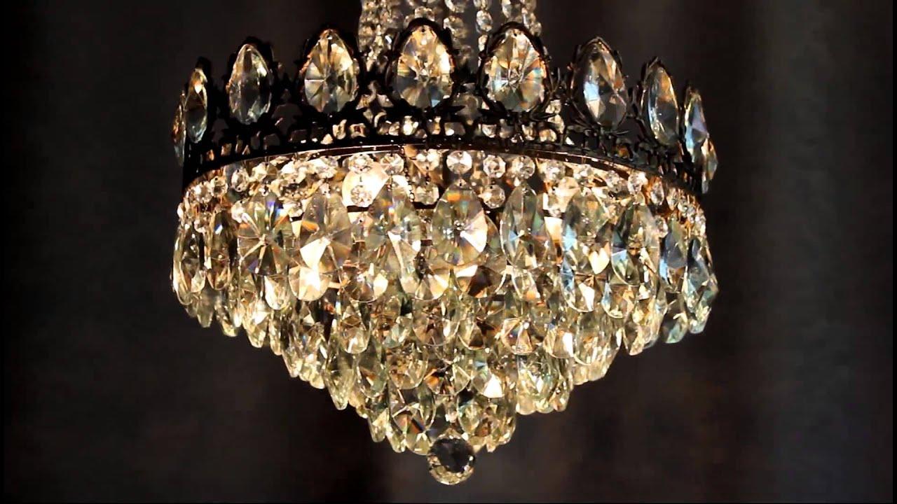 antik jugendstil kristall kronleuchter chandelier crystal luster alt lampe rare youtube. Black Bedroom Furniture Sets. Home Design Ideas