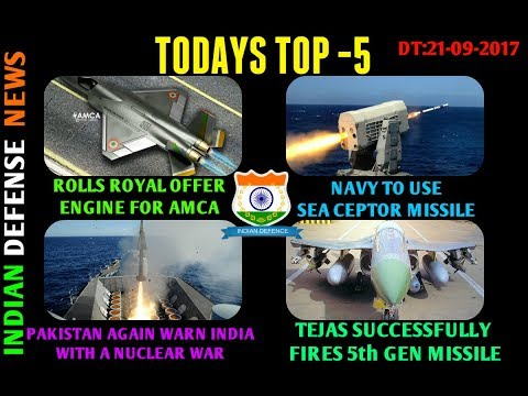 Latest Indian defense news Headlines Top 5 by indian defense news, AMCA got new Engine.
