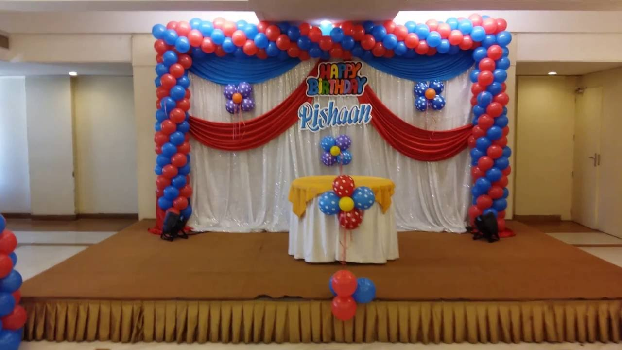 Balloon decoration for stage images for Balloon decoration ideas youtube