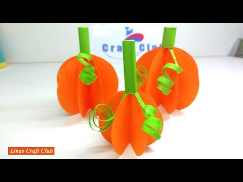 How to Make Halloween Pumpkin Paper for Kids  linascraftclub