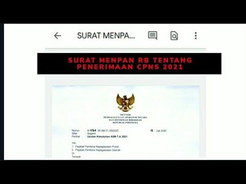 Surat Menpan RB Tentang Penerimaan CPNS 2021