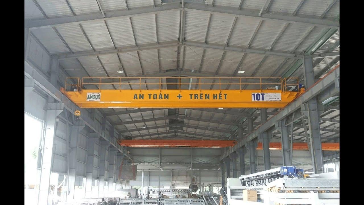 Lắp đặt cầu trục dầm đôi 10 tấn | Tel 0967.908.192 - YouTube