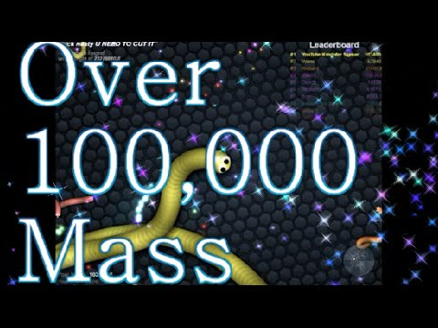 How To Get Over 100K Mass Easy On Slither.io Over 100,000 Mass