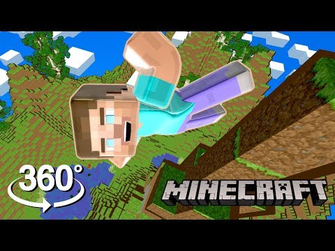Minecraft! - 360° SKYDIVING! - (The First 3D VR Game Experience!)