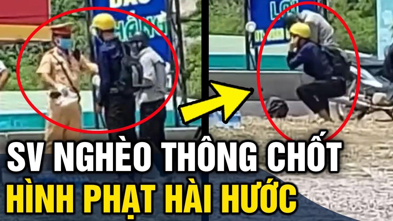 2 thanh niên nghèo 'THÔNG CHỐT' không có tiền đóng phạt nên được CSGT bắt 'THỤT DẦU' 50 cái