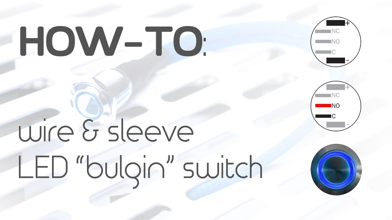 How To Wire A Led Bulgin Switch Youtube