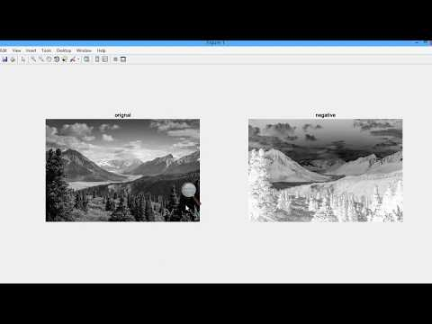#11 [POINT PROCESSING#3] How to Convert An Image To Negative Image Using For Loop in  Matlab
