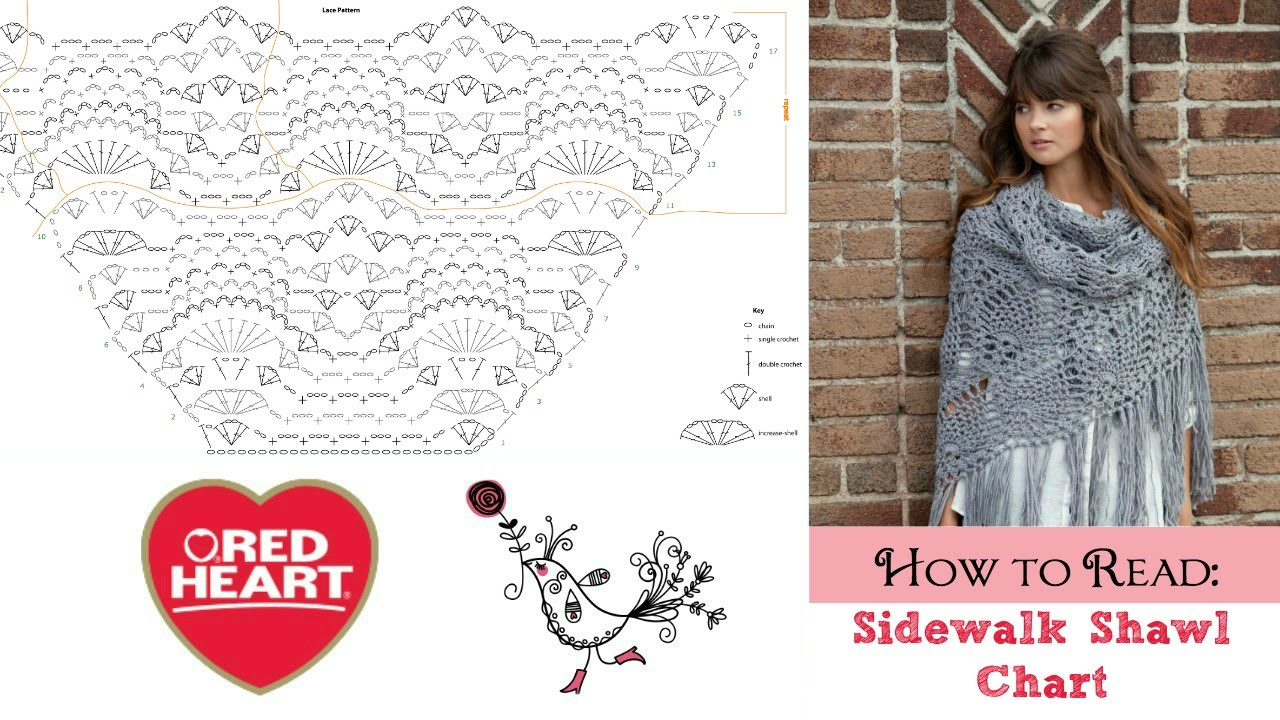 Crochet Diagram Chart Shawl Great Installation Of Wiring Double How To Read Sidewalk Youtube Rh Com Lace