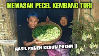 MEMASAK PECEL KEMBANG TURI, HASIL PANEN KEBUN PREEN !!