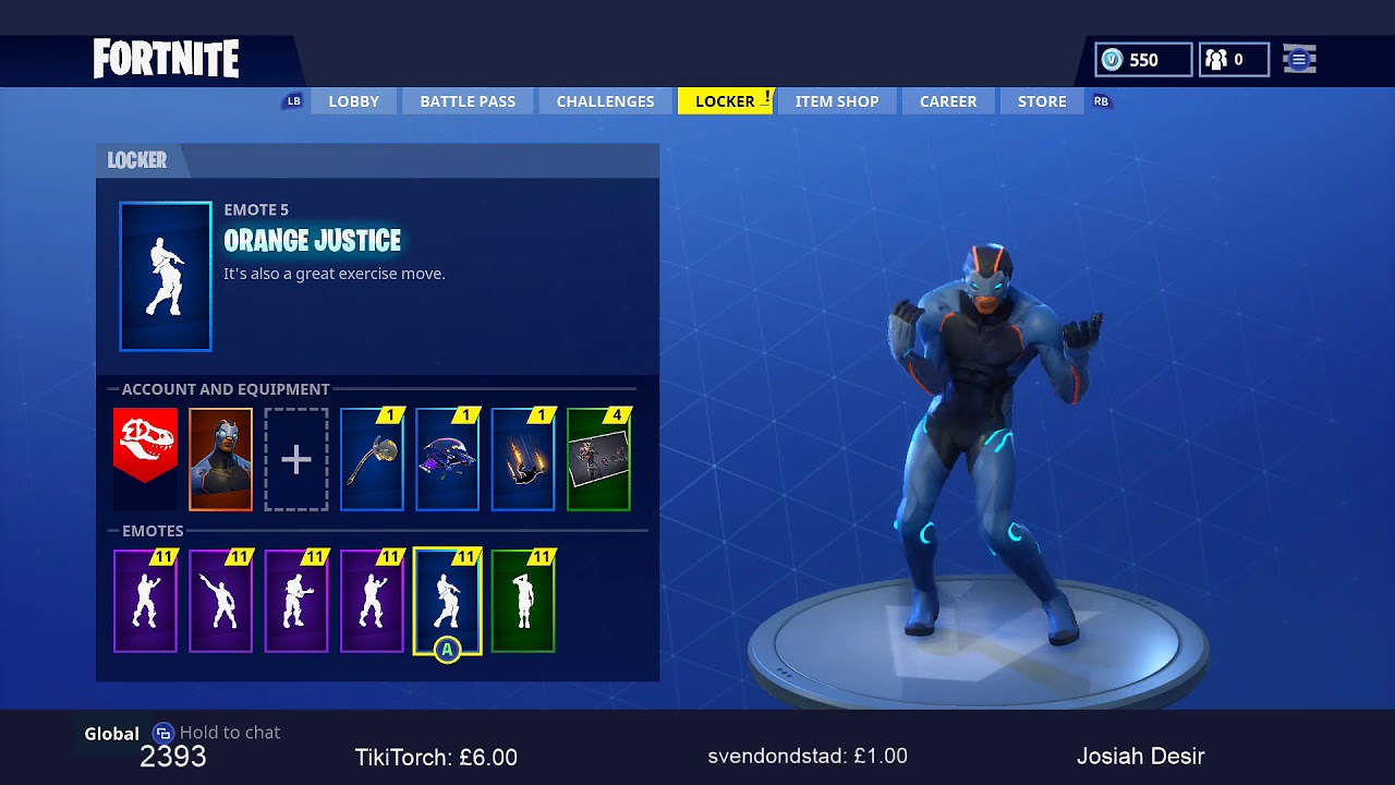 image result for orange justice - living large emote fortnite