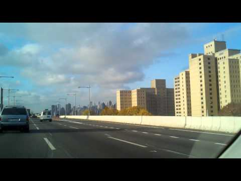 driving over the RFK (formerly Triboro) bridge