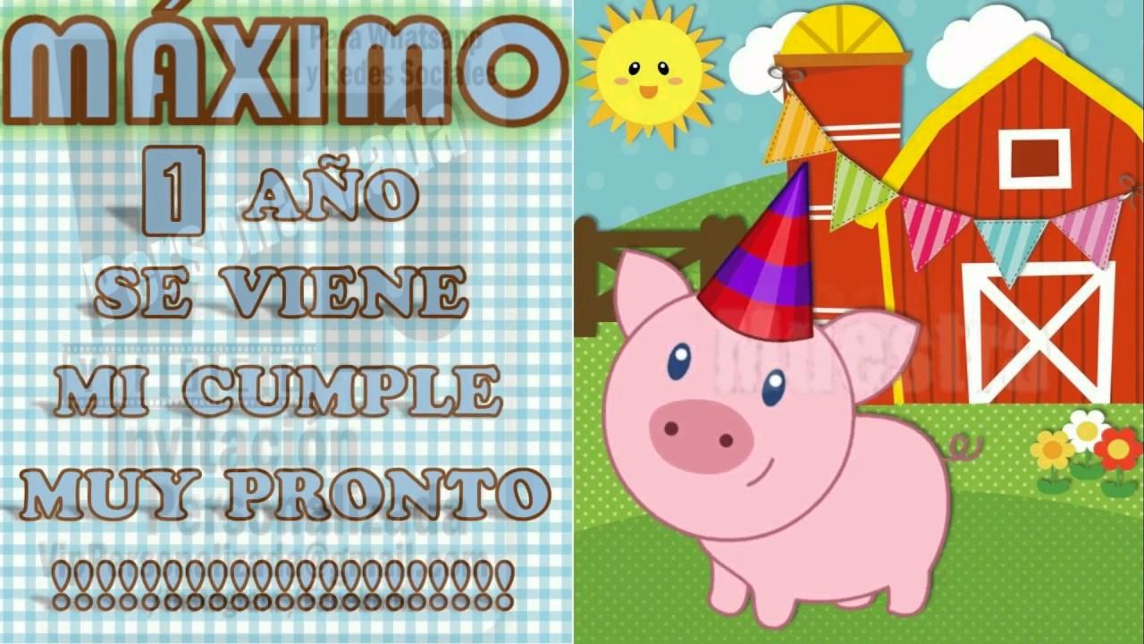 VIP VIDEO INVITACION PERSONALIZADA CUMPLEA u00d1OS EVENTOS animales de la granja 2 YouTube