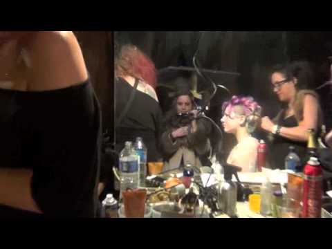 big big sur fashion show backstage